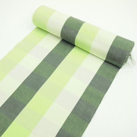 グレーとグリーンがおしゃれな伊勢木綿  反物  3