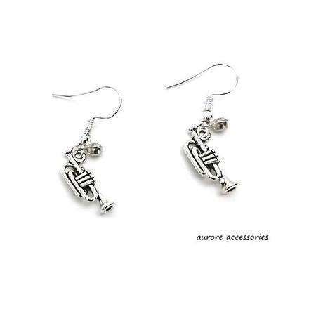 trumpet pierced earrings トランペットピアス  (小)