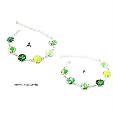 bracelet ブレスレット クローバー  シルバー