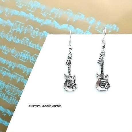 guitar pierced earrings ギターのピアス