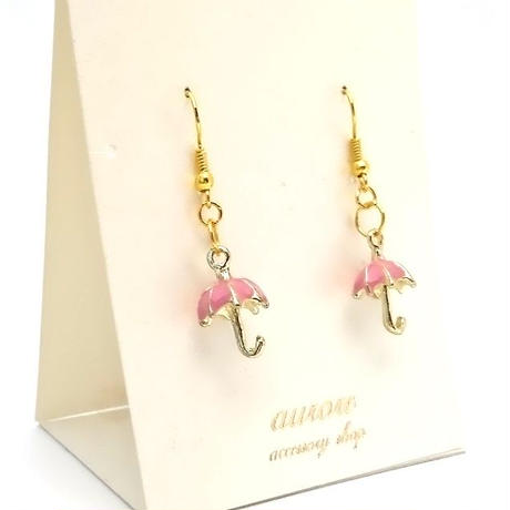 umbrella pierced earrings 傘のピアス ピンク