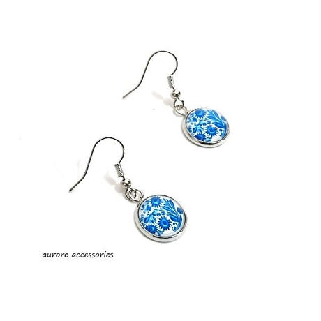 blue pierced earrings ブルーピアス