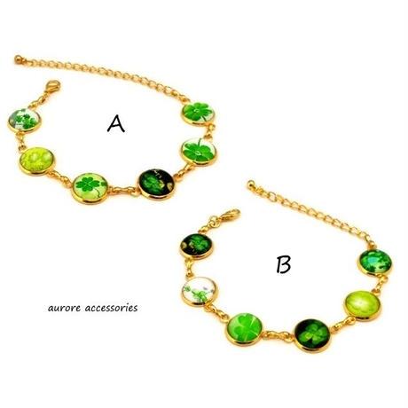 bracelet ブレスレット クローバー  ゴールド