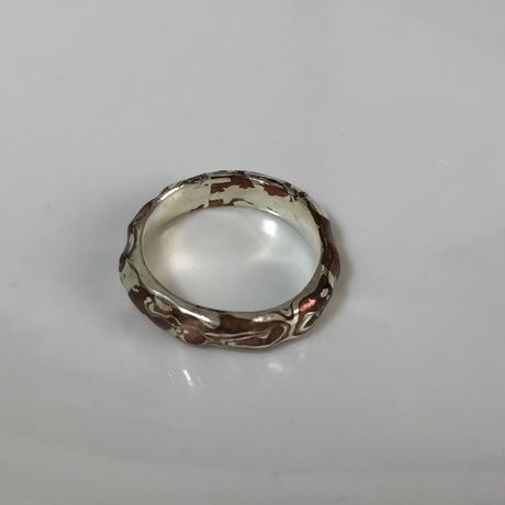 ZEBRA - new mokumegane ring グリ彫り