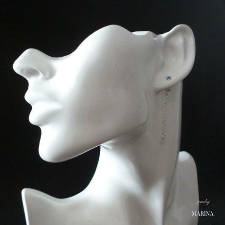 swing - blue topaz silver earrings