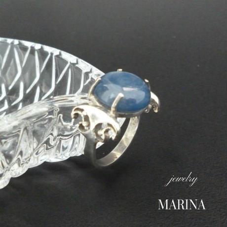 藍晶石のリング - kyanite silver -