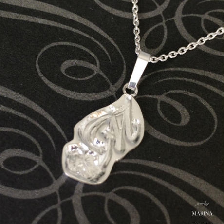 Initial necklace - silver 【トップのみ】