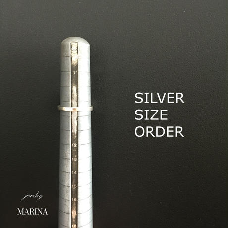 Silver ring size order