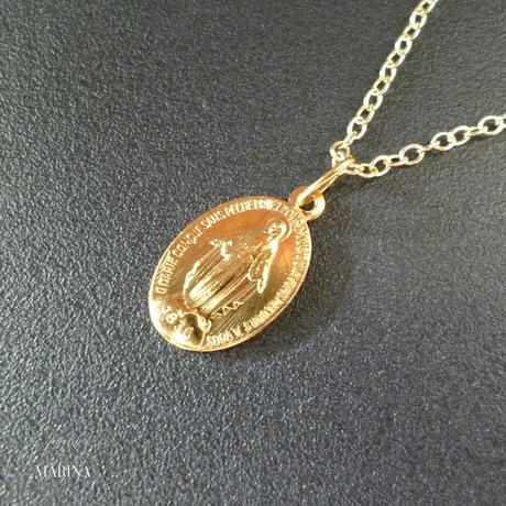 フランス奇跡のメダイのネックレス - gold chain