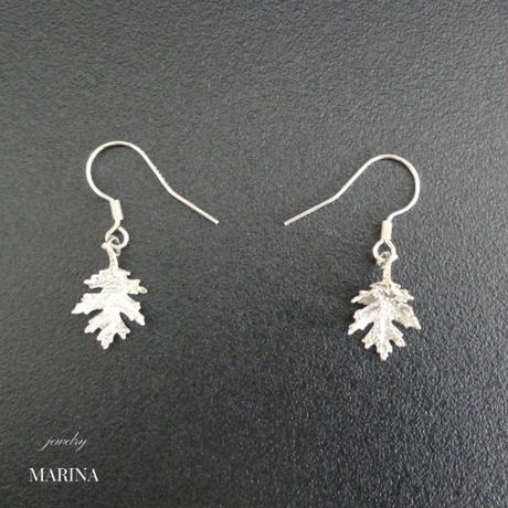 MINORI - oak leaf earrings