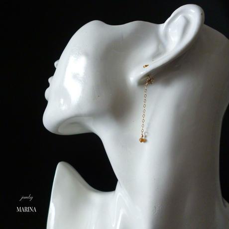 swing - citrine 14kgf earrings