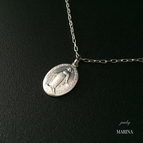 フランス奇跡のメダイのネックレス - silver chain
