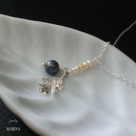 MINORI - oak leaf * pearl