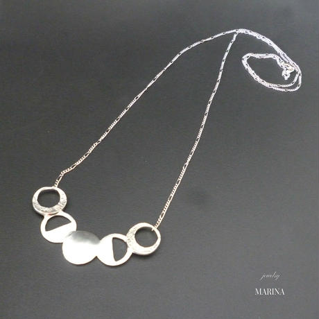 MOON - silver long necklace