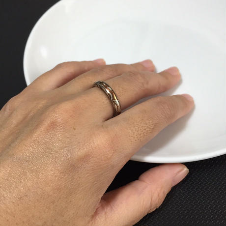 ZEBRA - new mokumegane ring