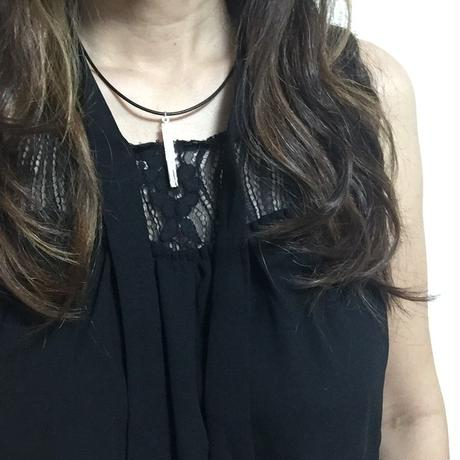 ZEBRA new mokumegane cross stick necklace