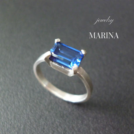Octagon Ring - BLUE