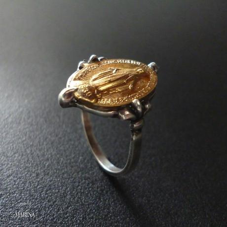 フランス奇跡のメダイのリング - gold