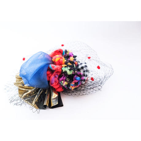 【レンタル】ドットチュールトーク帽 red