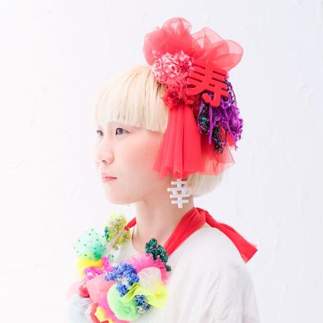 【レンタル】marinco-maringo × NICO25denden コラボヘッドドレス 寿RED