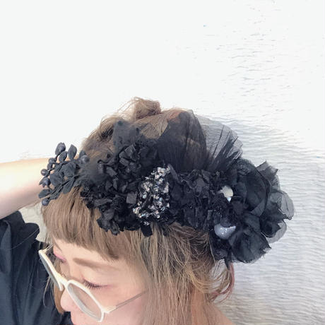 【レンタル】marinco-maringo×猫山めざしコラボヘッドドレス ブラック