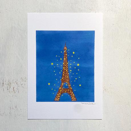 アートプリントA5 / Eiffel tower by night