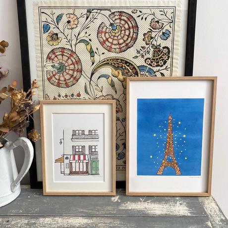 アートプリントA5 / Paris Cafe