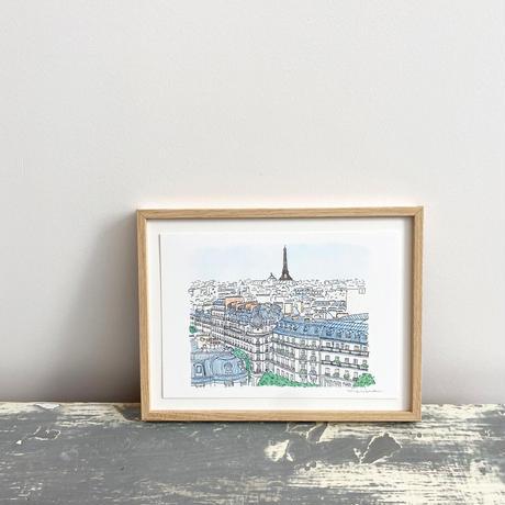 アートプリントA5 / Rooftops of Paris