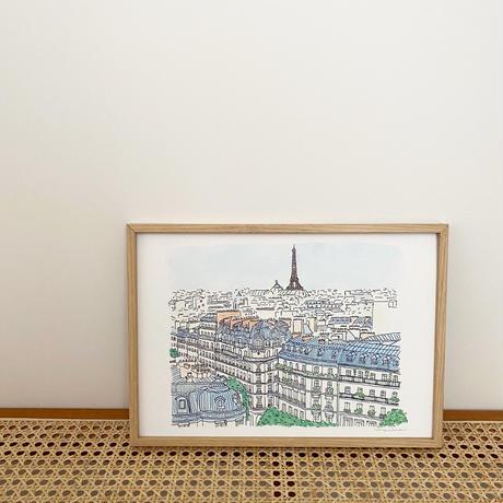アートプリントA4 / Rooftops of Paris