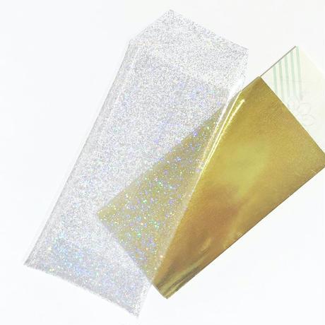 お札が折らずに入る透明ぽち袋#OSATSU POCHI -kirakira-