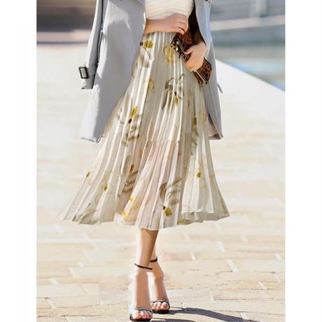 《ラスト3点》フラワープリーツスカート