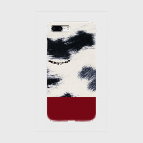 myclozette × cen cow/red 片面 smart phone cover