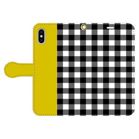 Gingham Mustard 手帳型 / iPhone