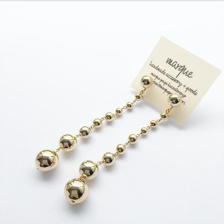 long ball chain  イヤリング・ピアス