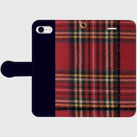 myclozette × cen redcheck/navy smart phone cover / iPhone