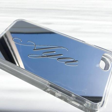 name mirror iPhone case  真ん中文字
