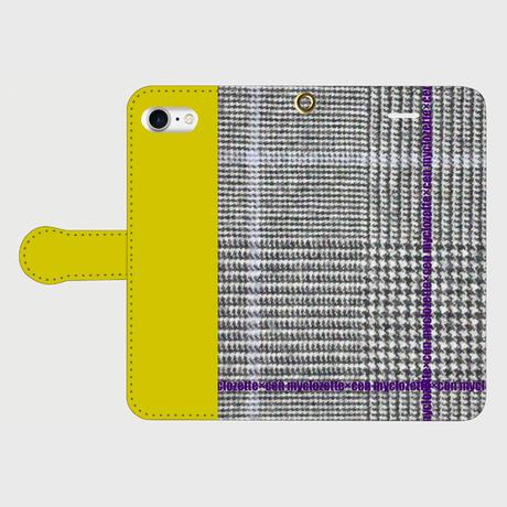 myclozette × cen  glencheck/mustard smart phone cover / iPhone