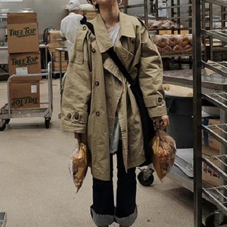 スプリングコート❤アウター 韓国ファッションとっても可愛いトレンチコート hdfks962076