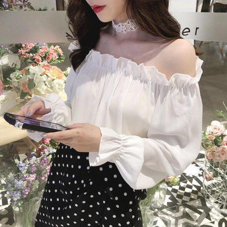 トップス❤ブラウス オフショル可愛い韓国ファッション hdfks962227