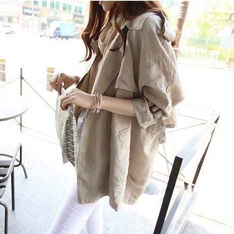 スプリングコート❤アウター ショートでカッコいい、春の韓国ファッションカジュアルコート hdfks962075