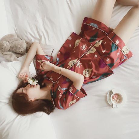 パジャマ❤夏の夜に可愛い柄の半袖半ズボンパジャマ♪ hdfks960053