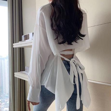 トップス❤ブラウス バックリボンコンシャスが大人可愛いデザインのシャツ hdfks962228