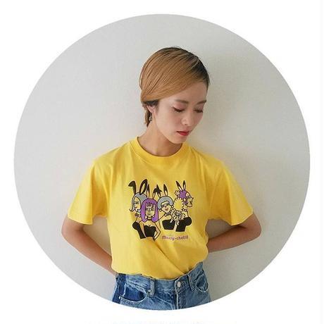バニー柄Tシャツ(バナナ)