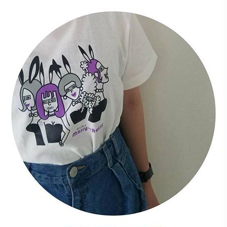 バニー柄Tシャツ(バニラホワイト)