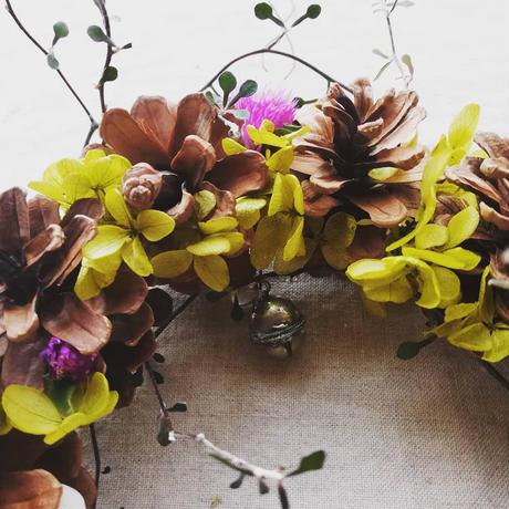 木の実とお花とシェルのリース 213