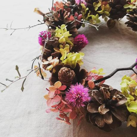 木の実とお花のリース 208