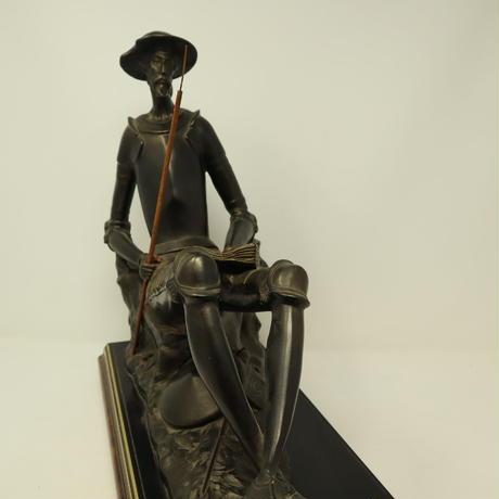 A003【彫刻】スペイン製 ドン・キホーテ  ブロンズ像
