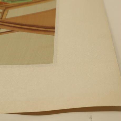 A014【木版画】浮世絵 日本画 美人画 2枚 ①
