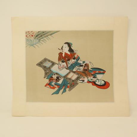 A017【木版画】浮世絵 日本画 美人画 2枚 ④