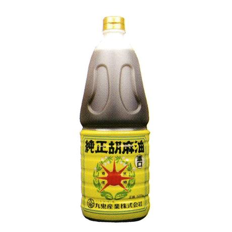 [156]星印  純正胡麻油 濃口 一升ポリ 1650g✕6入 1箱 業務用 お買い得!!